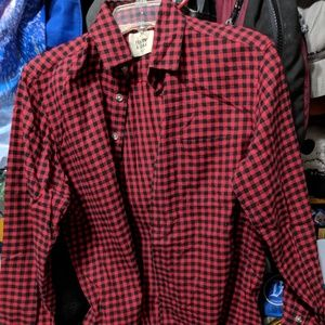 Frank & Oak Dark Red Plaid Shirt
